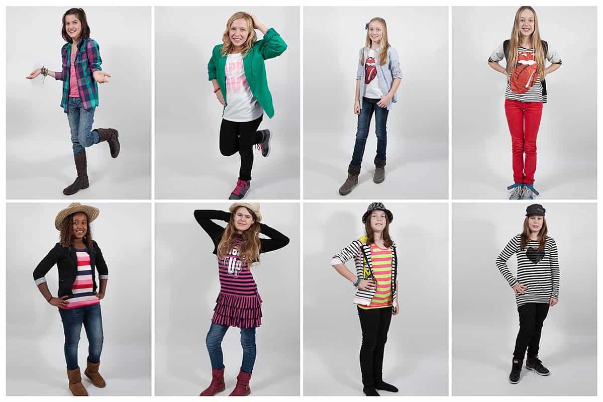 kinderparty modelfotoshoot glamourfeest meisjes vriendinnen fotostudio thuis Nieuw-Vennep